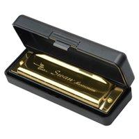 Wholesale New Swan Key of G Holes Tone Diatonic Harmonica Golden for Student Music Instrument with Case