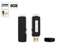 Wholesale 2 in USB MEMORY STICK GB HQ Hr Digital SPY Voice Recorder Black USB Flash Drive Built in Rechargeable Li ion Battery Hours