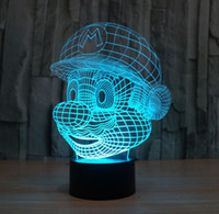 atmosphere wedges - Novelty Lighting Super Mario Bros Table Desk Lamp Touch Sensor D LED Bulb Nightlight Atmosphere Decor Lamp for Kids Bedroom