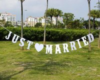 just wedding party party party achat en gros de-Vintage Wedding Bunting Just Married Photo Booth Prop Wedding Banner Party Décorations de mariage Party Wedding Banner Flag