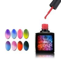 Wholesale Brand Nail Gel Thermo Varnish Temperature Change Nail Mood Color UV Polish ml Gel For Nail Soak Off Gel Polish