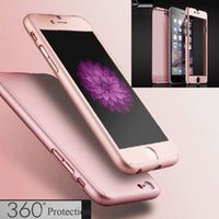 acrylic glass case - 360 degree iPhone plus S S SE Case Tempepred glass Hybrid Acrylic Full Boday Cover For Samsung S7 S6 edge Note
