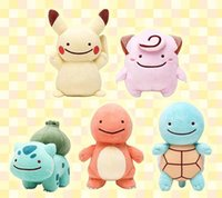 Wholesale Poke Go Plush Toys Cute Pocket Monster Stuffed Toys Poke Pikachu Charmander Squirtle Plush Dolls For Kids Christmas Gift