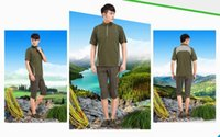 Wholesale 2016 new summer mountaineering outdoor sports men quick dry short sleeved speed dry clothing XL breathable collar T shirt