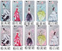beautiful running - Quicksand Running Beautiful Girl Star Hard Case Cartoon Liquid Glitter Clear Transparent For Iphone SE S plus S I6 skin Luxury