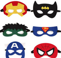 america party decorations - Batman Masks Superhero Mask Kids Costume Masks Decoration Masks Masquerade Party Masks Halloween Masks Superman Captain America Mask Cartoon