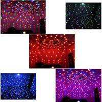 Lucky star RGB MP3 Magic Crystal Ball LED Éclairage de scène de musique Home Party discothèque DJ Party Éclairage de scène Éclairage + U Disk Remote Control