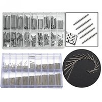 Wholesale Cotter Pins Wholesale - Wholesale-New 360 pcs Stainless Steel Watch Band Link Cotter Pins Repair Tool Sets 18 Size 6mm-23mm