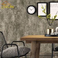 american roll cover - American Country Retro Solid Color Wallpaper Cement Pattern Non woven Wallpaper For Walls Living Room Wall Covering Home Decor