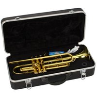 Wholesale New Beginner Paint Gold Drop B Adjustable Bb Trumpet With Mouthpiece Case Kit for Student School Band Golden