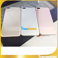 Wholesale Goophone i7 plus clone cell phones inch MTK6580 Quad Core M G show g lte Show G G camera android Smartphone Metal Body
