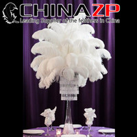 Wholesale CHINAZP Factory colors Hot Sell cm inch inch DIY Ostrich Feathers Plume Centerpiece for Wedding Party Decorations