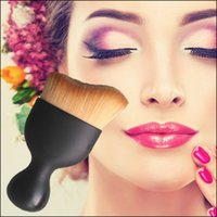 bb cups - Pro Tailoring Curved Face Brush New Powder BB Cream Liquid Foundation Brush Concealer Blush Cream Brush Cup Makeup Brushes Cosmetic Tools