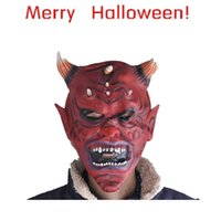 Costume Accessories best funny costumes - Best Seller Halloween funny trcking Bloody Face Off Horror Costume Mask Aug3