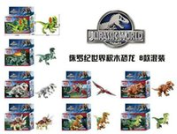baby block box - 8pcs orignial box Jurassic World Park Minifigures Dinosaur Bricks Mini Figures Building Blocks Super Heroes baby toys Compatible with Lego0