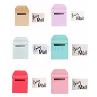 Wholesale Wooden Mailbox With Decal Dollhouse Miniature Fairy Garden Decor