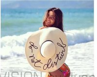 church hats - 2016 New Beyonce Church Summer Large Brim Straw Hat Beach Hat Star English Alphabet uv Protect Sun hat