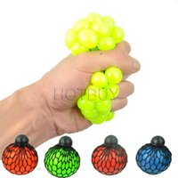 Wholesale Mesh Squish Ball Grape Ball Toys Anti Stress Face Reliever Autism Mood Squeeze Relief Healthy Toy Funny Geek Gadget