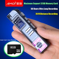 Wholesale ome Audio Video Equipments Digital Voice Recorders Amoi Mini Digital Sound Audio Voice Recorder Pen GB Professional HD Voice Gravador Gr