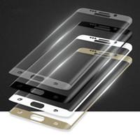 Écrans pour galaxie Prix-Verre trempé pour le bord Galaxy S7 S7 S6 S6 bord bord Protector Plein écran incurvé plus 3D avec l'emballage de détail 20pcs / up
