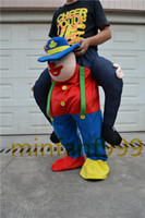 Wholesale Red Clown NEW Teddy Bear Stuffed Ride On Me Stag Mascot Carry me Piggy Back Fancy Dress Costume