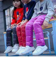 Wholesale 2016 winter new fashion baby boys girls pants warm kids down trousers girls leggings children clothes M T