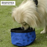 Wholesale Waterproof Fabric Pets Portable Folding Travel Water Bowl For Dog Cat Food Feeder Drinking