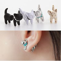 amazon jewelry sale - New European and American multi color animal cartoon cat earrings jewelry cute wild gift Amazon hot sale