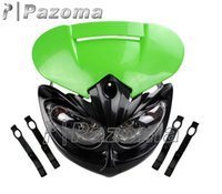 bandit fairing - PAZOMA Green Universal Motorcycle Headlight Head Lamp Fairing Street Fighter For Suzuki GSF Bandit Brand New