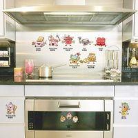 best kitchen furniture - Cartoon kitchen small stickers DIY decorative wall stickers removable and self adhesive best design for kitchen walls and furniture CM