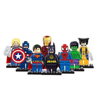 Wholesale Avengers Marvel DC Super Heroes Series Set Action Mini figures Building Block Toys Kids New Year Gift Superman Spiderman