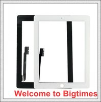 Wholesale High quality For ipad Touch Screen Digitizer with home butoon adhesive DHL