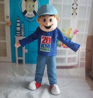 athletic pants for boys - a thin boy mascot costume wear blue shirt and blue pants for adult to wear