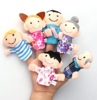 Wholesale 6 Colorful Family Finger Puppets Play Game Tell Story Flannel Cloth Baby Kids Toys Gift Reborn Dolls Babies