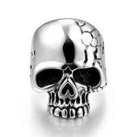 bank engagement - men styles skull Skeleton Stainless Steel bank rings Punk Stainless Steel Unique Star celebrity Party Gift