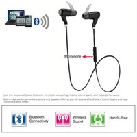 Wholesale Wireless Bluetooth EDR Headset Sport Outdoor Stereo Music Headphone Sweat proof Earphone Hands free for iPhone Samsung PC