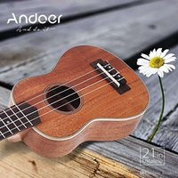 Wholesale Hot Sell Hawaiian Ukulele Mahogany Body Rosewood Fretboard Bridge Ukelele Fit for Adults and children Andoer Ukelele