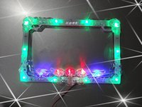 Wholesale Production and electric cars personalized motorcycle license plate frame decorative tail lights V flash LED Strobe lights ch