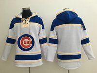 blank baseball jacket - Top Quality Cheap Chicago Cubs Old Time Baseball Jerseys No Name Number Blank Baseball Hoodie Pullover Sweatshirts Winter Sport Jacket
