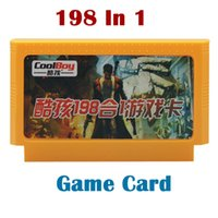 Wholesale 198 in Game Cards pin Bit FC NES game cartridge games player For tv video game console