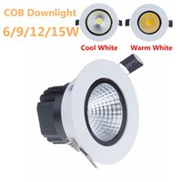 bathroom downlight kit - Recessed COB led downlight Kits W W W W AC110 V LED Spot light For Home ceiling Down lamp Cool White Warm White with led driver