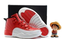 basketball gym flooring - Cheap Children Athletic Retro Boys And Girls Gym Red XII Sneakers Kids Basketball Shoes New In Box Free Shiping