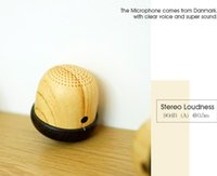 battery transfer - Fantastic quality stereo wooden Bluetooth Speaker handsfree with water transfer printing battery lasting hours with mini Nut shape