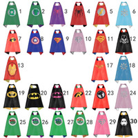 america costume party - Double side kids superhero Capes Batman Spiderman captain america hulk Flash Supergirl Batgirl Ninja Turtles kids party capes