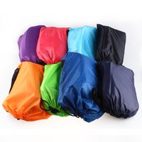 Wholesale Hot Sleeping Bag Fast Inflatable Camping Sofa Sleeping Lazy Chair Bag Nylon Hangout Air Beach Bed chair Couch Christmas Decoration