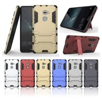 armor lite - PC Silicon TPU Hard Plastic Case For Huawei Mate P9 Dual Slim Armor Stand Holder Cover for Huawei Mate S P8 Lite