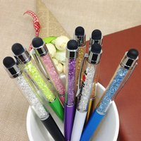 Wholesale New Crystal Stylus Touch Pen for ipad tablet pad Capacitive Screen Metal Stylus Touch Pen Ball Point Pen for iPhone