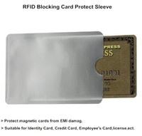 id cards - New Safe Anti Theft RFID Blocking Holder Shield Contactless Magnetic IC ID Bank Credit Cards Secure Sleeve Waterproof