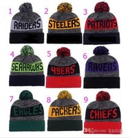 album gold - Album Offered Top Quality New Warm Beanies American Football team Sports Beanie Men Women Knitted Hats Wool Snapbacks Caps