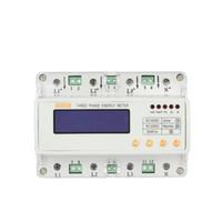Wholesale LCD Din Rail Three Phase Electricity Meter Power Meter Hz Wattmeter Current Voltage Adjustable KWH Kilowatt Hour Measurer